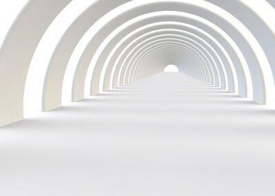 Naklejka Streszczenie futurystyczny tunel w nowoczesnym stylu