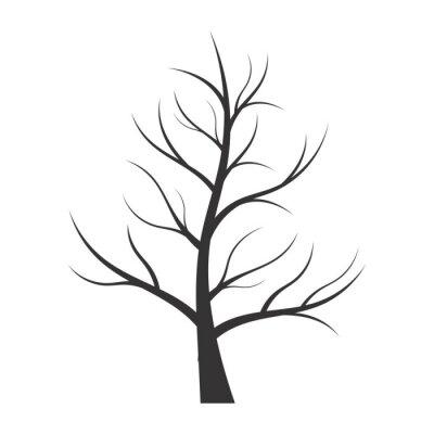 Naklejka Streszczenie ilustracji - drzewa sylwetka