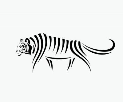 Naklejka Streszczenie ilustracji tygrysa