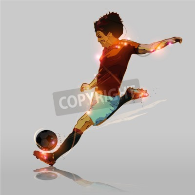 streszczenie kolor soccer player strzelanie piłka