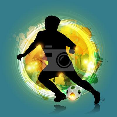 streszczenie kolorowe piłkarz