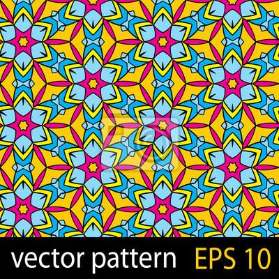 Streszczenie kolorowy wzór z elementów geometrycznych