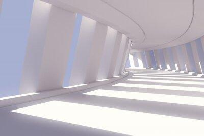 Naklejka Streszczenie korytarz wnętrza. 3d renderowania ilustracji