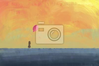 Streszczenie krajobraz / tło / Digital Painting