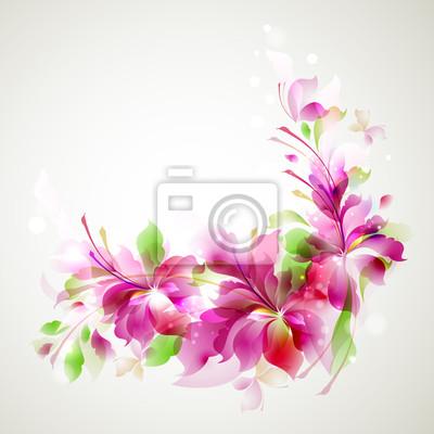 streszczenie kwiat i motyle