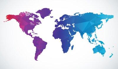 Naklejka Streszczenie mapa świata