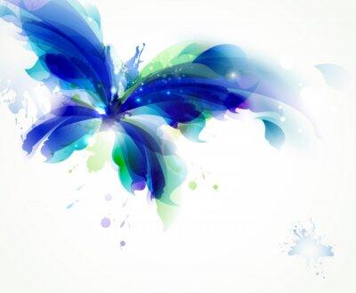 Streszczenie motyl z niebieski i turkusowy plamy