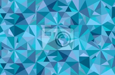 Streszczenie niebieskim tle geometrycznej sztuki
