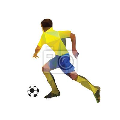 Streszczenie piłkarz. Kopanie piłki. Łamana piłkarz