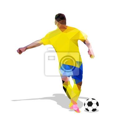 Streszczenie piłkarz. Kopanie piłki. Łamana piłkarz, g