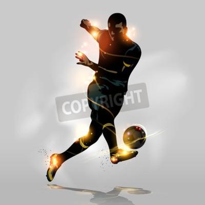 Streszczenie piłkarz szybkie strzelanie piłką