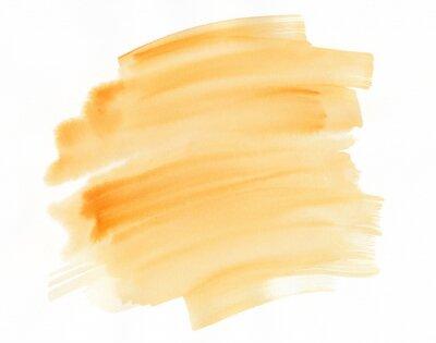 Streszczenie pomarańczowy tekstury akwarela, szczotka udar.