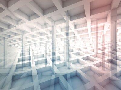 Naklejka Streszczenie przecinają struktury komórkowe, ilustracji 3d