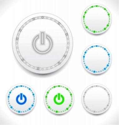 Streszczenie przycisk power LED
