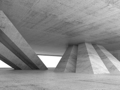 Naklejka Streszczenie pusty beton wnętrze renderowania 3D