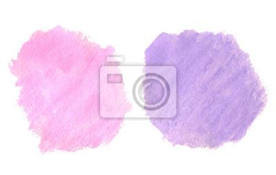 Streszczenie ręcznie rysowane prawdziwe akwarela różowe i fioletowe tło.