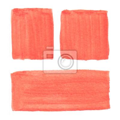 Streszczenie ręcznie rysowane tła pomarańczowy akwarela rzeczywistym. Watercolo