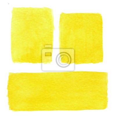 Streszczenie ręcznie rysowane tła rzeczywistym akwarela żółty. Watercolo