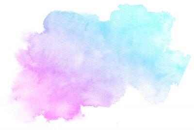 Naklejka Streszczenie różowy akwarela na białym background.This jest akwarela splash.It jest rysowane ręcznie.