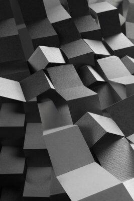 Naklejka Streszczenie skład paski papieru, geometryczne tło