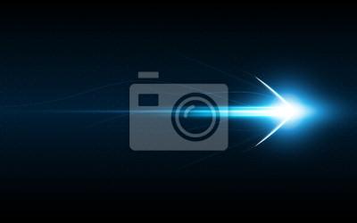 Naklejka streszczenie strzałka symbol prędkości do przodu innowacyjność koncepcji technologii