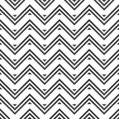 Naklejka Streszczenie szwu z szarego zygzakiem na białym tle