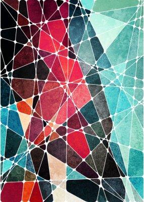 Naklejka streszczenie tło geometryczne grunge