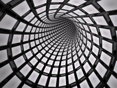 Naklejka Streszczenie tunelu, 3D