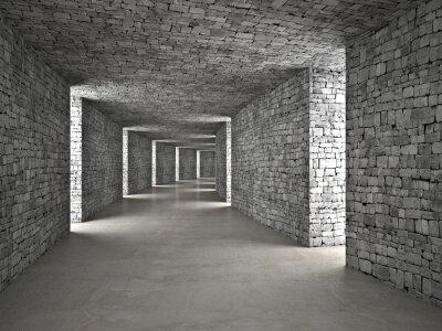 Naklejka streszczenie tunelu
