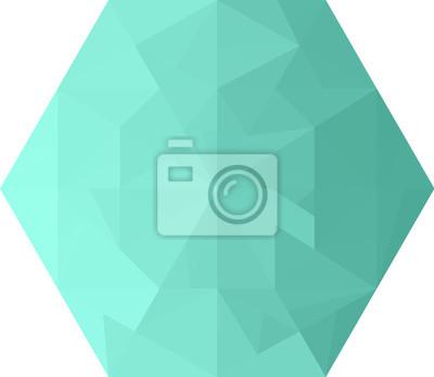 Streszczenie Turquois diament na białym tle.