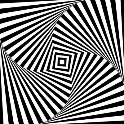 Naklejka Streszczenie wektora optyka iluzja w czerni i bieli