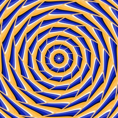 Naklejka Streszczenie wektora złudzenie optyczne tła.