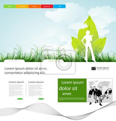 Strona firmy Web design układ z ludźmi