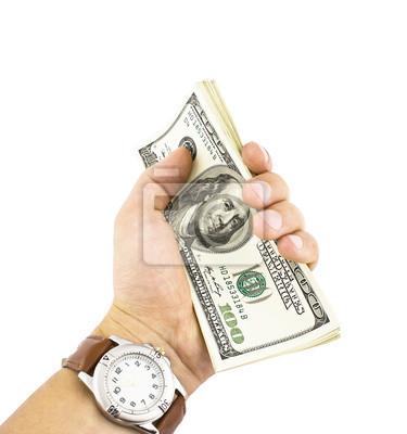 strony gospodarstwa dolarów samodzielnie na białym tle