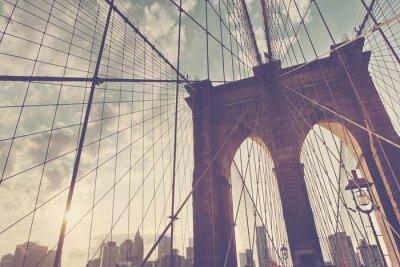 Naklejka Structural szczegół Brooklyn Bridge