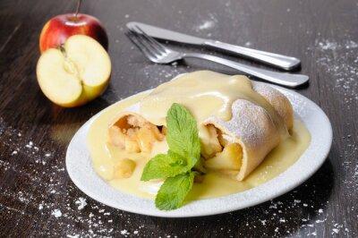Naklejka Strudel jabłkowy