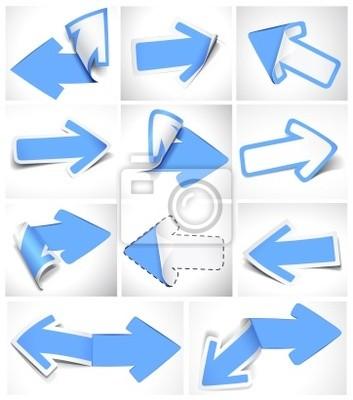 Strzałki papieru. Ilustracja wektorowa