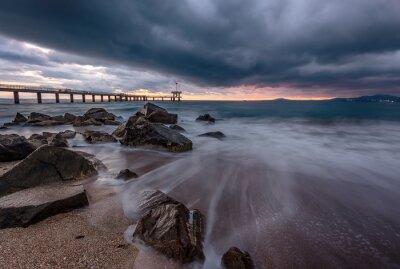 Naklejka  Stunning Sunset ? Beautiful Nature around Burgas, Bulgarian Black Sea Coast .