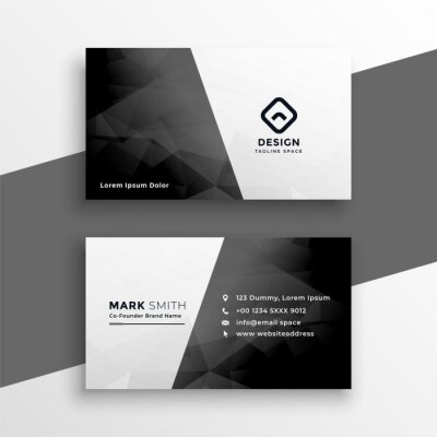 stylish black and white business card design