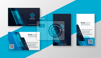 Naklejka stylish blue elegant business card design