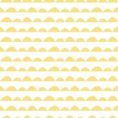 Naklejka Stylizowane rzędy Hill. Fala prosty wzór do tkanin, tkanin i bielizny niemowlęcej.