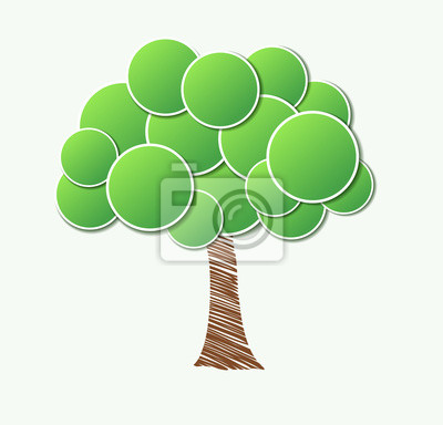 Stylowe drzewo papier.