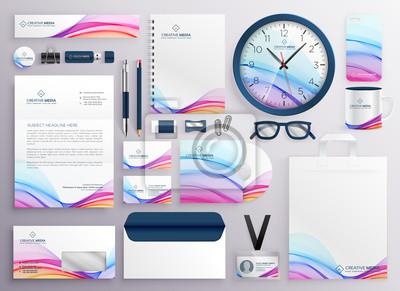 stylowy duży zestaw artykułów biurowych