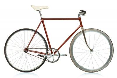 Naklejka Stylowy rower hipster samodzielnie na białym tle
