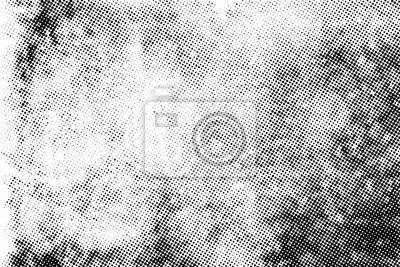 Naklejka Subtle halftone vector texture overlay. Monochrome abstract splattered background.