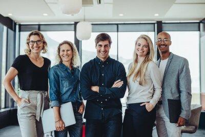 Naklejka Successful business team