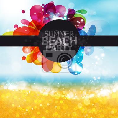Naklejka Summer beach party
