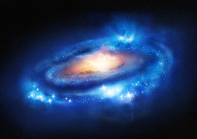 Naklejka Supermassive Galaxy
