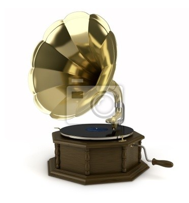 Sur fond blanc 1 Gramophone