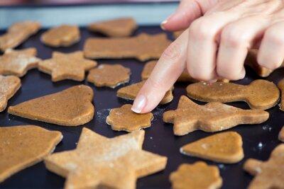 Surowe ciasteczka świąteczne